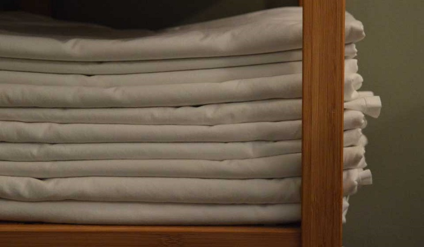 Clean Sheets folded in a pile