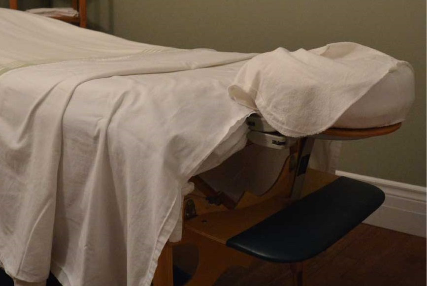 Massage Therapy Treatment Table Servicing Clients In Etobicoke, Toronto, and Mississauga at North Brentwood Massage Therapy Clinic